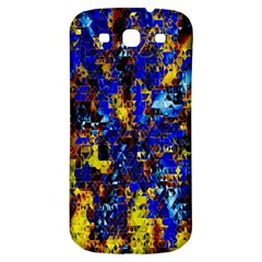 Network Blue Color Abstraction Samsung Galaxy S3 S III Classic Hardshell Back Case