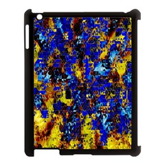 Network Blue Color Abstraction Apple iPad 3/4 Case (Black)