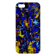 Network Blue Color Abstraction Apple iPhone 5 Premium Hardshell Case