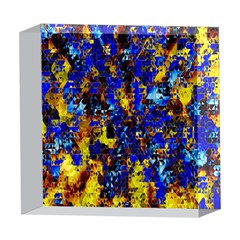 Network Blue Color Abstraction 5  x 5  Acrylic Photo Blocks