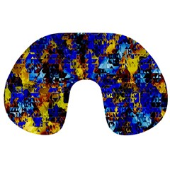 Network Blue Color Abstraction Travel Neck Pillows