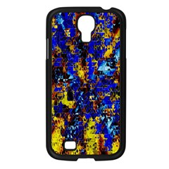 Network Blue Color Abstraction Samsung Galaxy S4 I9500/ I9505 Case (Black)