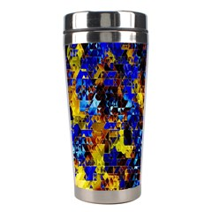 Network Blue Color Abstraction Stainless Steel Travel Tumblers