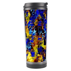 Network Blue Color Abstraction Travel Tumbler