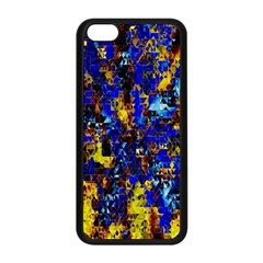 Network Blue Color Abstraction Apple iPhone 5C Seamless Case (Black)
