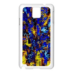 Network Blue Color Abstraction Samsung Galaxy Note 3 N9005 Case (White)