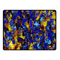 Network Blue Color Abstraction Double Sided Fleece Blanket (Small)