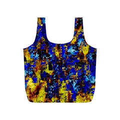 Network Blue Color Abstraction Full Print Recycle Bags (S)