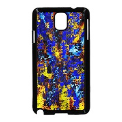 Network Blue Color Abstraction Samsung Galaxy Note 3 Neo Hardshell Case (Black)