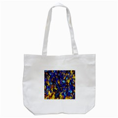 Network Blue Color Abstraction Tote Bag (White)