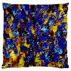 Network Blue Color Abstraction Large Flano Cushion Case (One Side)