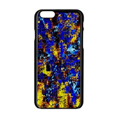 Network Blue Color Abstraction Apple iPhone 6/6S Black Enamel Case