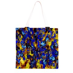 Network Blue Color Abstraction Grocery Light Tote Bag