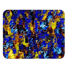 Network Blue Color Abstraction Double Sided Flano Blanket (Large)