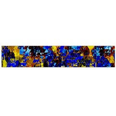 Network Blue Color Abstraction Flano Scarf (Large)