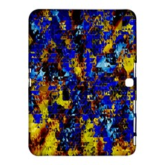Network Blue Color Abstraction Samsung Galaxy Tab 4 (10.1 ) Hardshell Case