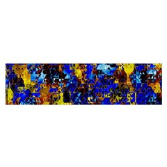 Network Blue Color Abstraction Satin Scarf (Oblong)