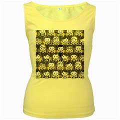 Man Girl Face Standing Women s Yellow Tank Top