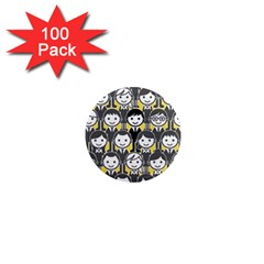 Man Girl Face Standing 1  Mini Magnets (100 pack)