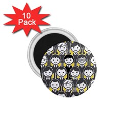 Man Girl Face Standing 1.75  Magnets (10 pack)