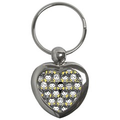 Man Girl Face Standing Key Chains (Heart)