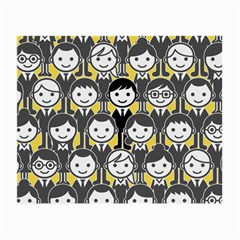 Man Girl Face Standing Small Glasses Cloth