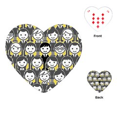 Man Girl Face Standing Playing Cards (Heart)