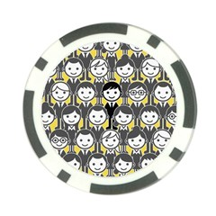 Man Girl Face Standing Poker Chip Card Guards