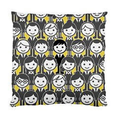Man Girl Face Standing Standard Cushion Case (One Side)
