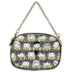 Man Girl Face Standing Chain Purses (Two Sides)