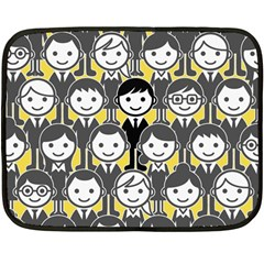Man Girl Face Standing Fleece Blanket (Mini)