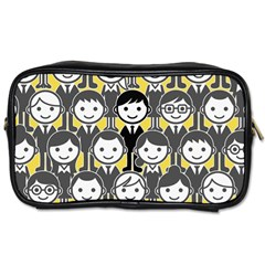Man Girl Face Standing Toiletries Bags 2-Side