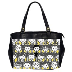 Man Girl Face Standing Office Handbags (2 Sides)