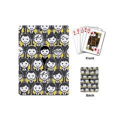 Man Girl Face Standing Playing Cards (Mini)