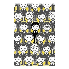 Man Girl Face Standing Shower Curtain 48  x 72  (Small)