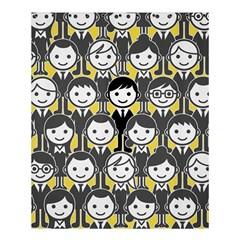 Man Girl Face Standing Shower Curtain 60  x 72  (Medium)