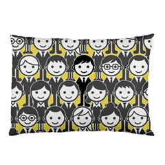 Man Girl Face Standing Pillow Case (Two Sides)