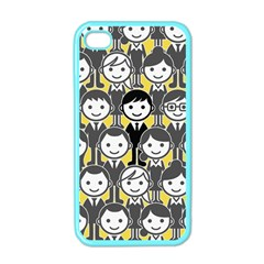 Man Girl Face Standing Apple iPhone 4 Case (Color)