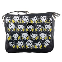 Man Girl Face Standing Messenger Bags