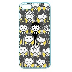 Man Girl Face Standing Apple Seamless iPhone 5 Case (Color)