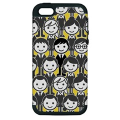 Man Girl Face Standing Apple iPhone 5 Hardshell Case (PC+Silicone)
