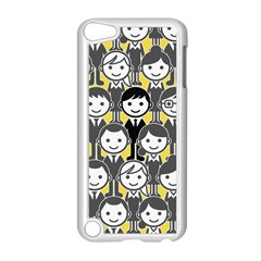 Man Girl Face Standing Apple iPod Touch 5 Case (White)