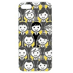 Man Girl Face Standing Apple iPhone 5 Hardshell Case with Stand