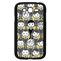 Man Girl Face Standing Samsung Galaxy Grand DUOS I9082 Case (Black)