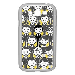 Man Girl Face Standing Samsung Galaxy Grand DUOS I9082 Case (White)