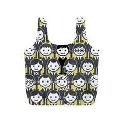 Man Girl Face Standing Full Print Recycle Bags (S)