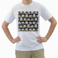 Man Girl Face Standing Men s T-Shirt (White)