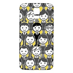 Man Girl Face Standing Samsung Galaxy S5 Back Case (White)