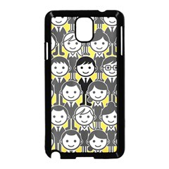 Man Girl Face Standing Samsung Galaxy Note 3 Neo Hardshell Case (Black)