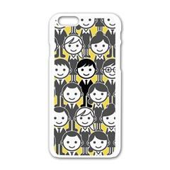 Man Girl Face Standing Apple iPhone 6/6S White Enamel Case